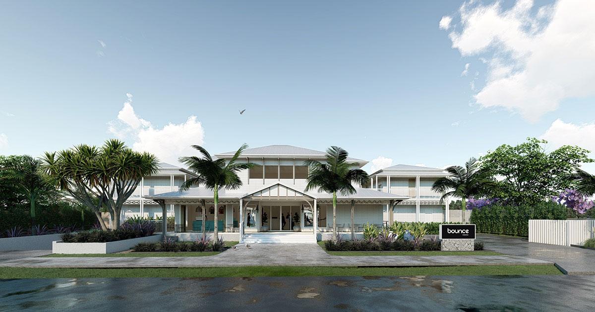 bounce hostel hotel noosa development front facade